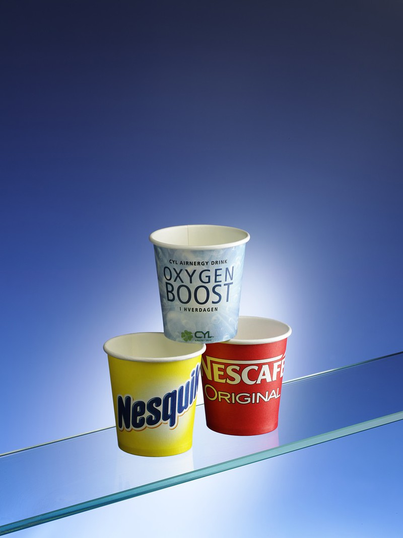 Small Paper Cups for Espresso and Product Tasting