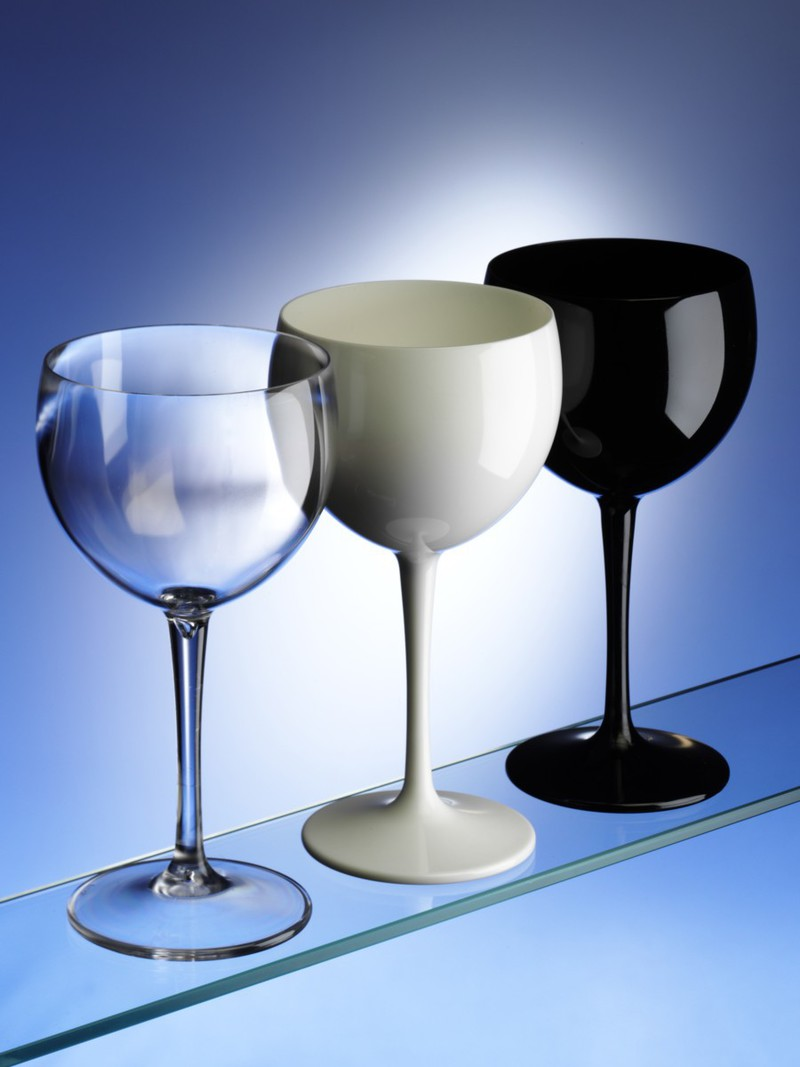 Balloon Wine Glasses In Black White Clear Unbreakable