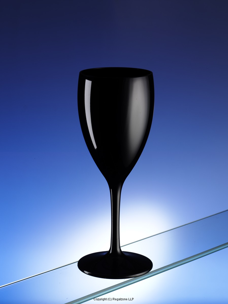Black and white wine glasses unbreakable nipco uk for Large white wine glasses