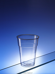 Regalzone's popular flexible pint-to-rim plastic glass