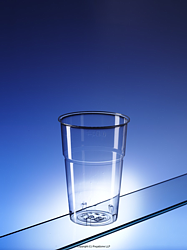 C575CE: Crystal clear plastic pint glass (to rim) (CE marked)