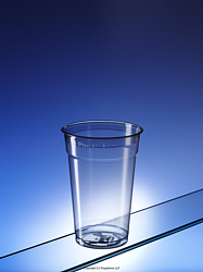 PET570CE: plastic pint glasses made from recycled plastic (Regalzone)