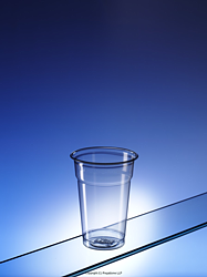PET300CE: Recycled plastic glasses (half pint)
