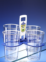 Brandable plastic pint glass carrier - UK